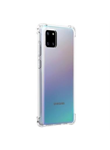 Microsonic Samsung Galaxy A81 Kılıf Shock Absorbing Şeffaf Renksiz